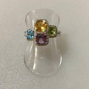 Amethyst,-Citrine,-Peridot,-Blue-Topaz-&-Diamond-Ring