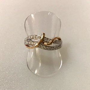 Black Friday Jewellery deals - White and rose gold diamond ring