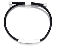 Black Leather Bracelet -adjustable