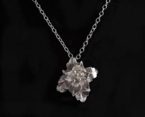 Lily silver pendant