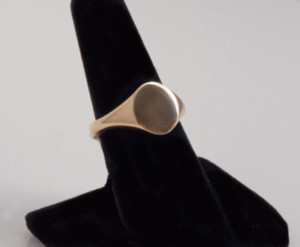 Signet ring - Bride and groom jewellery